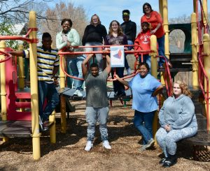 Group of people in a playground